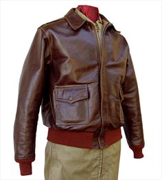 Good Wear Leather Coat Co.: excellent reproductions of Army Air Corps Type jackets -- our online flight jacket experiece. Leather Flight Jacket, Silver Wings, Flash Art, Rock Outfits, Best Wear, Jacket Pattern, Indiana Jones, Tattoo Flash, Men Fashion