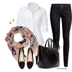 No. 465 - White blouse with scarve