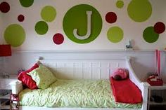 Image result for girls rooms with red and green