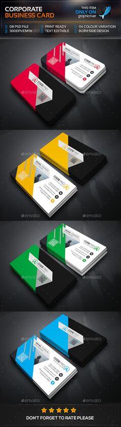 Corporate Business Card                                                                                                                                                                                 Plus