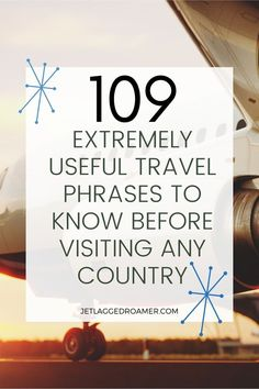 Heading abroad for a trip? Here I have 100+ travel expressions and travel phrases that are super helpful to know before you go. Learn travel phrases for greetings/farewells, exploring town, dining at a restaurant, emergencies, and much more. Check out his article for a smooth landing. Travel Phrases // Travel Terms // Travel Mistakes To Avoid // Travel Tips // Travel Phrases Inspiration Trip Planning, Travel Tips, How To Plan, Sayings, Learning, Mistakes, Exploring, Smooth, Restaurant