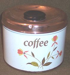 jewel tea coffee canister w copper lid