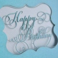 Script Happy Birthday Card by Candyspotting Calligraphy Fonts, Typography Fonts, Happy Birthday Calligraphy, Paper Fire, Laser Cut Paper, Arts And Crafts, Paper Crafts, Happy Birthday Messages, Paper Cutting