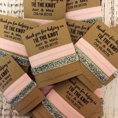 Bridal // Wedding Favors Day of Thank you Gifts. Please include your color…