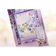 Topper Set Card Kit Hunkydory Sparkling Pearl Lovely Lilies