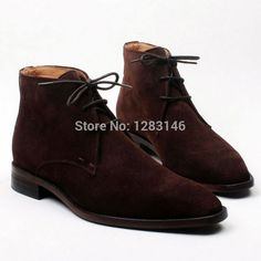 212.00$  Buy now - http://alijh4.worldwells.pw/go.php?t=1884346734 - Free Shipping Handmade Lacing Leather Outsole/Upper/Insole Color Coffee Suede Mackay Craft Men's Fashion Leather Boot No.a121
