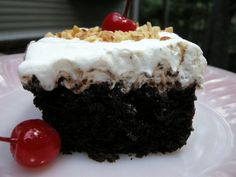 Chocolate Sundae Cake: Sinfully Good, Sinfully Easy ~ http://www.southernplate.com