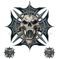 Grey Skull Ironcross Color Decal, Skull and Crossbones ...