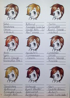 Promarkers colour combos- hair. Image from Some Odd Girl. Coloured @ Lilibets Monkey Hut  (:(|)x