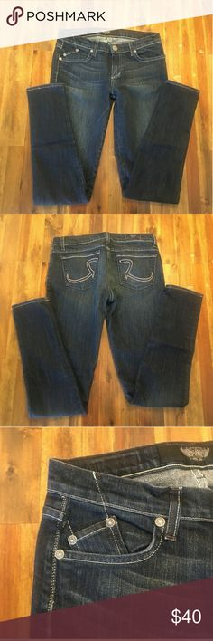 "Rock and Republic Skinny Jeans Rock and Republic Skinny Jeans Size 28 Like New Condition.. no stains, rips, or damage  Re-Posh because unfortunately I'm bigger than I'd like to think  They're a very flattering fit, approx inseam 31.5 a 32"" rise approx 8.5"" Rock & Republic Jeans Skinny"
