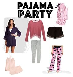 """""""Pj party"""" by audjvoss on Polyvore featuring Victoria's Secret, Madewell, Three J NYC, River Island, Gilligan & O'Malley, Cosabella and Warner Bros."""