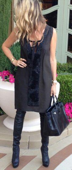 #Black #dress #christianlouboutin #hermes
