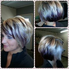 Purple underneath and purple peakaboo with platinum highlights. #love