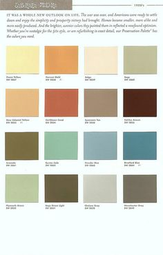 Sherwin Williams Color Preservation Palettes (Retro 1950's Paint Colors) | Flickr - Photo Sharing!