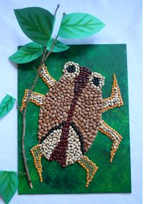 Mosaic Bean Bug by Creativity for Kids - This is a great craft for kids of all ages. Easy to do and most of the craft materials can be found already in your home!