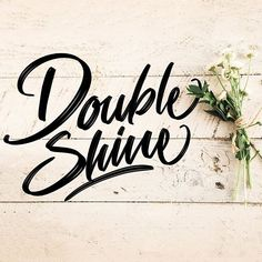 """Made with Doubleshine brush - included on """"Lettering box"""" brush set (Link in bio)."""