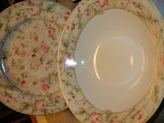 Cheri Blum Savanna Rose Dinnerware 2 piece completer set on eBay!