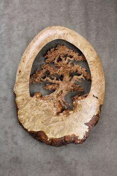 Oak tree, wood carving, anniversary gift, wedding gift