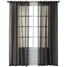 """Nate Berkus Aztec Diamond Window Panel $29.99, 54"""" by 95"""". available in a few colors. I prefer white."""