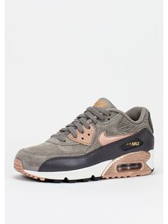 nike air max 90 grey and bronze trainer