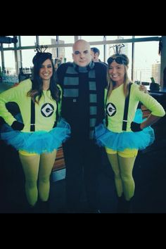#minions #halloween #despicableme #gru #costumes #groupcostumes
