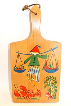 Vintage Nevco Mid Century Cutting Board by LiveFunVintage on Etsy