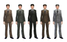 History Lover's Sims Blog: TS4: Peaky Blinders Inspired - Men's Suit and Cap