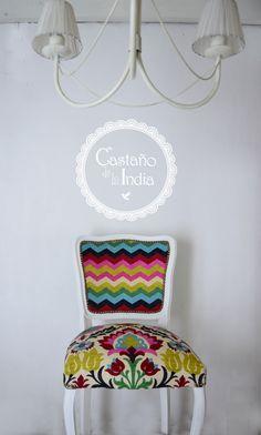 Silla restaurada por Castaño de la India