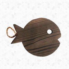 Wooden Fish Pot Trivet   Rare Device