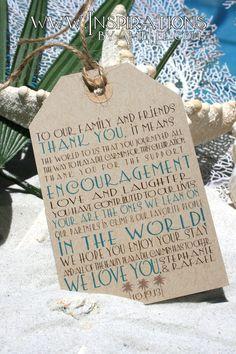 Wedding Tags - Welcome Bag Tags