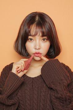 gong soo ah Stylenanda Makeup, Hair Inspo, Hair Inspiration, 3 4 Face, Asian Short Hair, Matte Lip Color, Beautiful Lips, Grunge Hair, Cute Hairstyles
