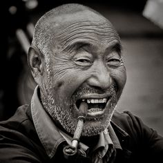 Old man with pipe | Flickr - Photo Sharing!