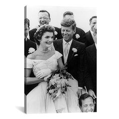 iCanvas 'File John and Jackie Kennedy Wedding' by Toni Frissell Photographic Print on Canvas