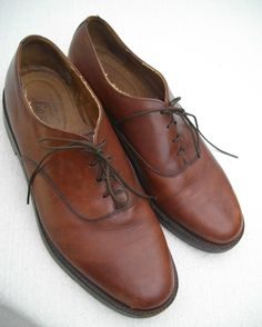 BASS Shoes Mens 10 M Brown Leather Dress / Casual Oxford