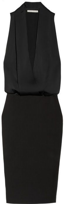 Victoria Beckham Matte Satin And Crepe Tuxedo Style Dress