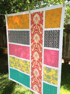 Big Bold Fabric Quilts I'm not a Quilter,BUT  I love this!!