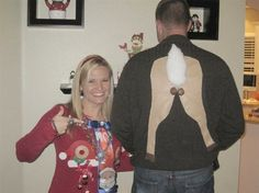 Now THAT'S an ugly Christmas sweater!!!