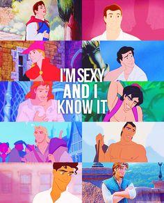 Disney Princes are pretty attractive. . .