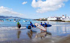 SUPer people! #OceanSide #SurfSchool #LasCanteras #LasPalmas #GranCanaria #CanaryIslands #Surf #SUP