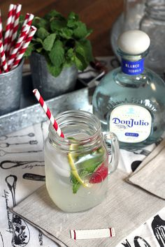 Sparkling (and Spiked) Mint Lemonade