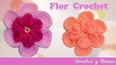 Flor Crochet 3D en relieve