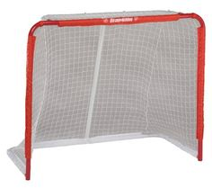 Franklin Sports Pro Tournament Steel Goal, 50-Inch by Franklin. $54.95. The Franklin NHL SX Pro 50-Inch Steel Hockey Goal features heavy gauge 1.25-Inch steel tubing and a rugged 2,400D polyester pre-fit net.  This steel goal is rigid and durable with precision tube fittings.  Easy to assemble with the 420D nylon sleeve net attachment.