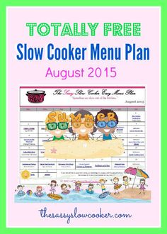 August 2015 Slow Cooker Menu Plan