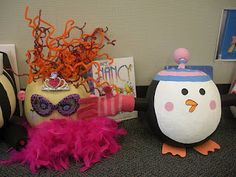 Create decorated pumpkins based on favorite books from Teaming Up To Teach {a few years we had our students dress up in book character for fall fun}