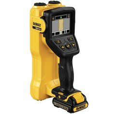 DEWALT Hand Held Wall Scanner Multiple sensors inside the tool register material type that is most likely behind the wall surface — wood, fer. Woodworking Tools List, Easy Woodworking Projects, Dewalt Power Tools, Garage Atelier, Stud Finder, All Tools, Work Tools, Carpenter Tools, Cordless Tools
