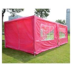 Outdoor PINK 10x20 Wedding Party Canopy Tent 6 Walls