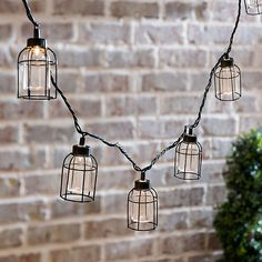 Caged Edison Bulbs String Lights | Kirklands