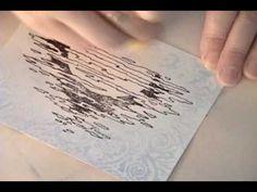 Wax Paper Resist Using Embossing Folders