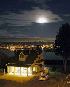 Someone's great house overlooking our great moonscapes in Olympia