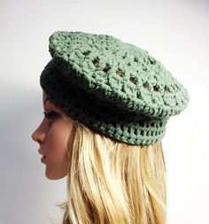 c14c9fda6ea Crochet PATTERN PARIS BERET Crochet Hat Pattern crochet